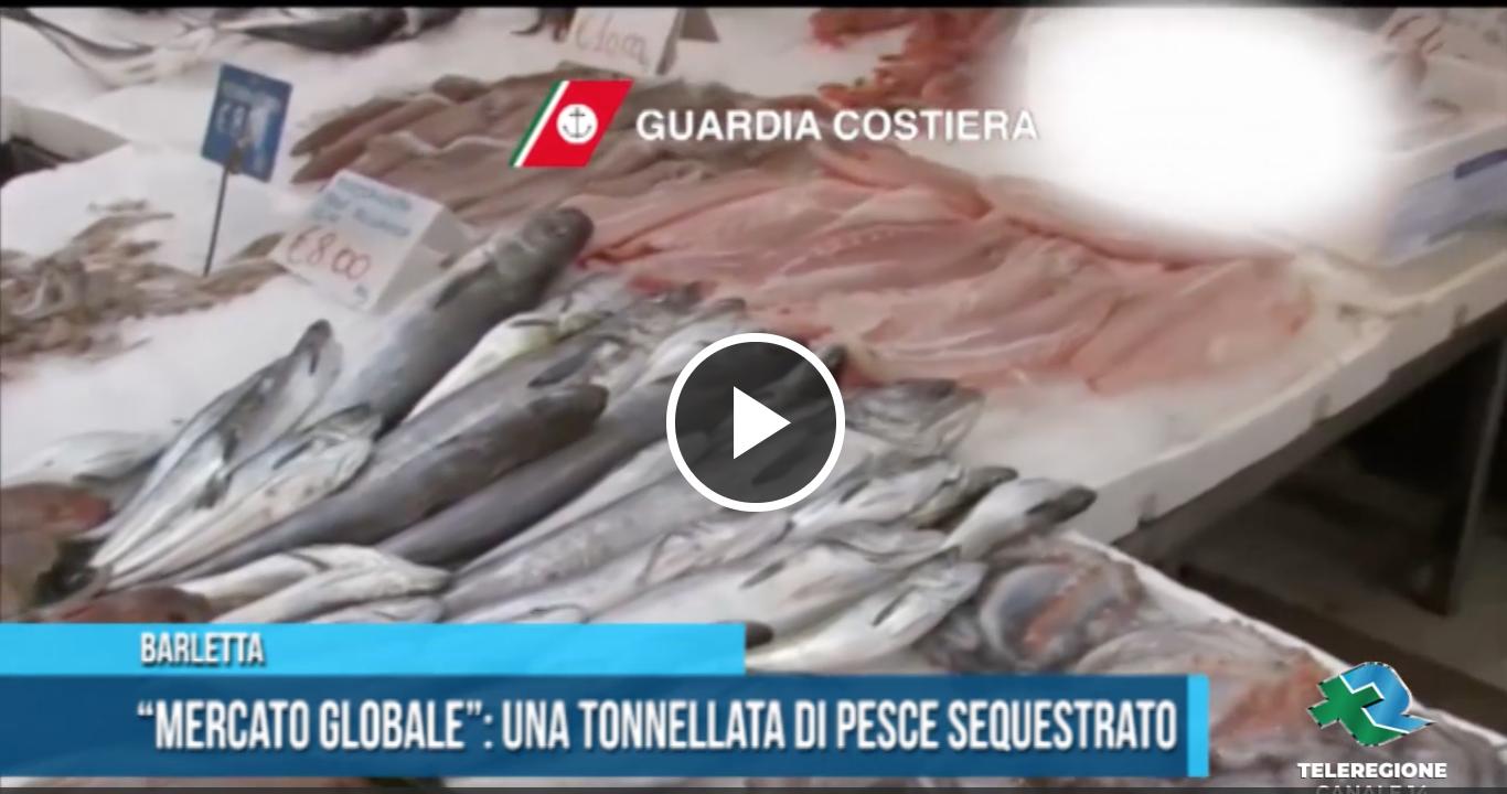 tonnellata di pesce sequestrato