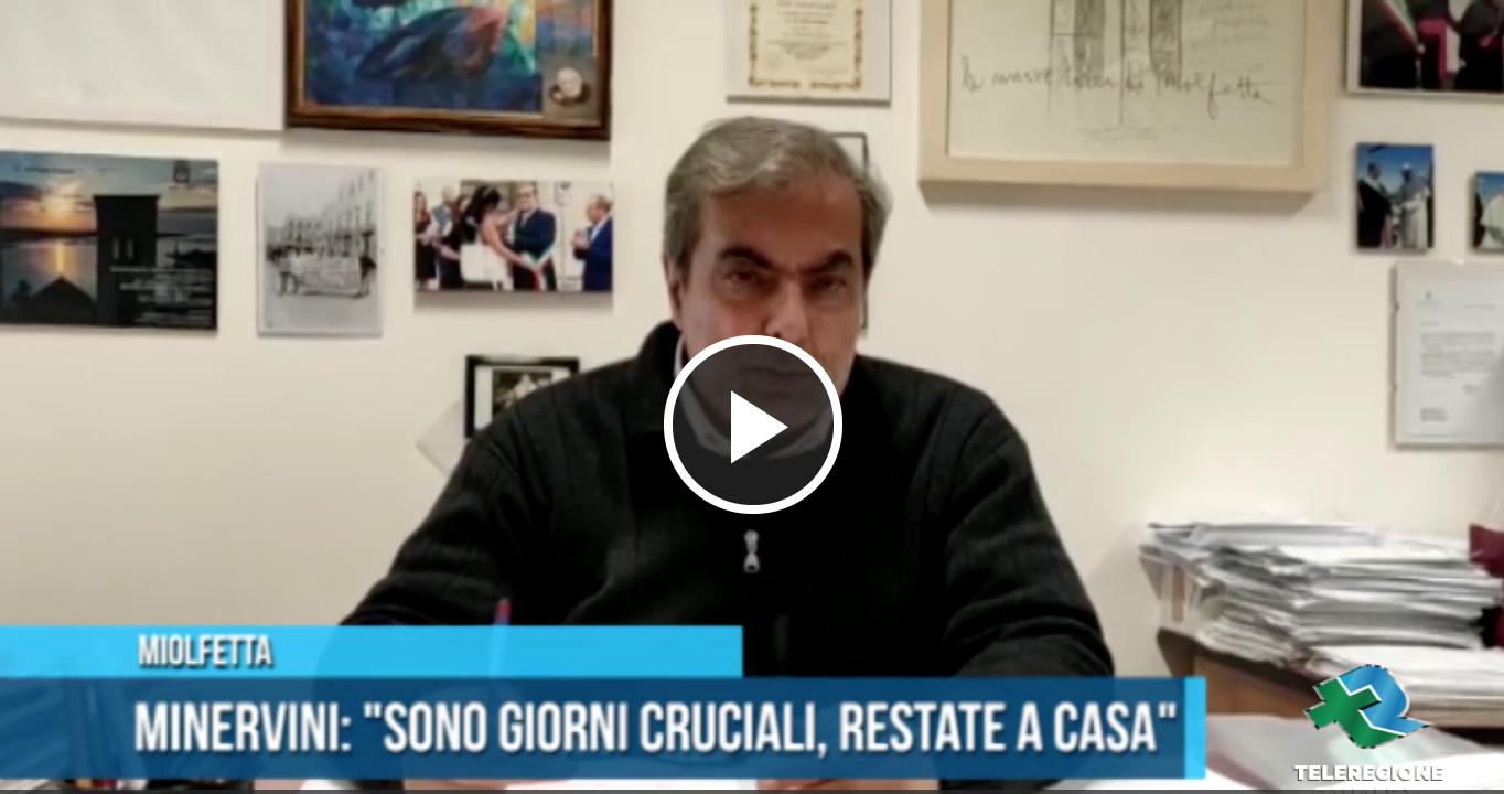 messaggio del Sindaco Tommaso Minervini ai suoi concittadini.