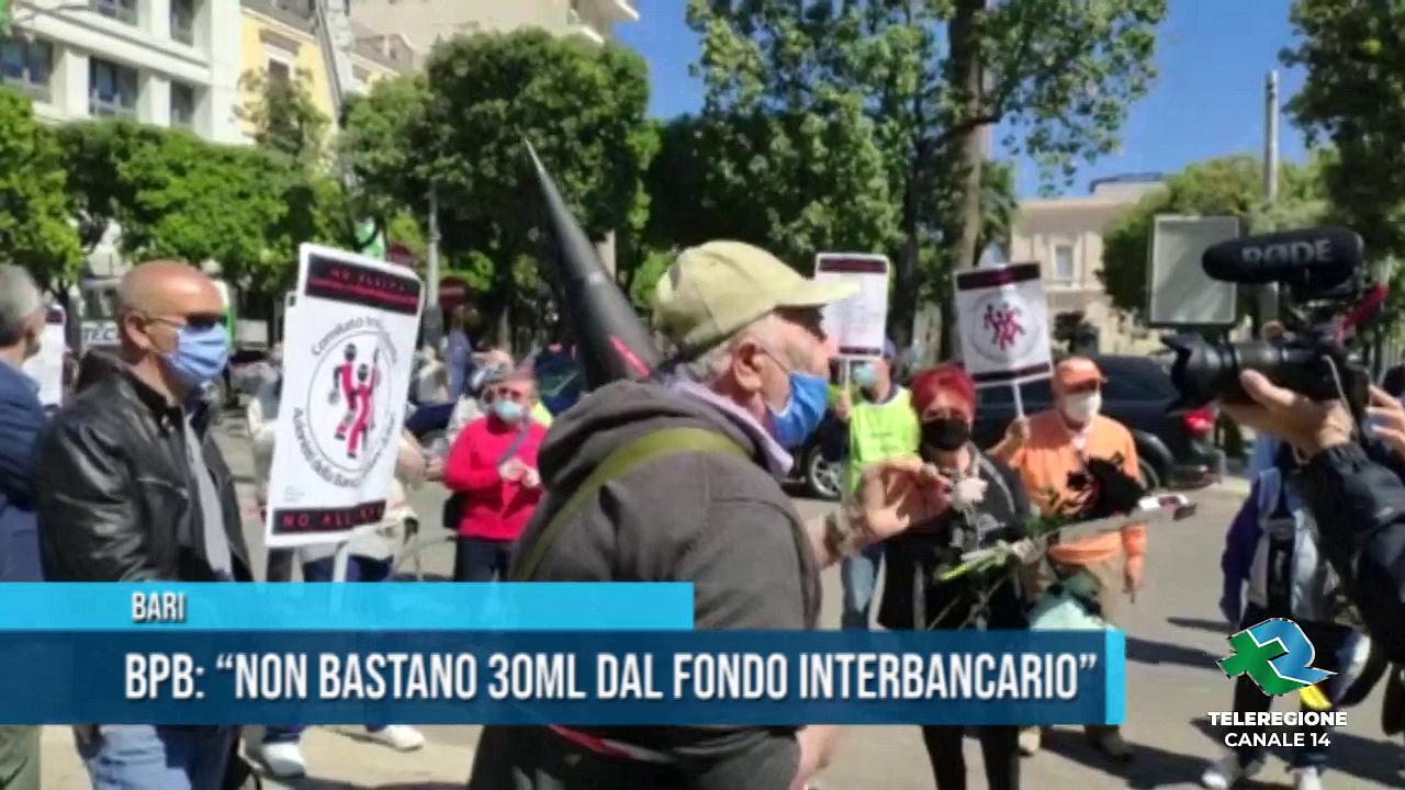 protesta azionisti banca popolare bari