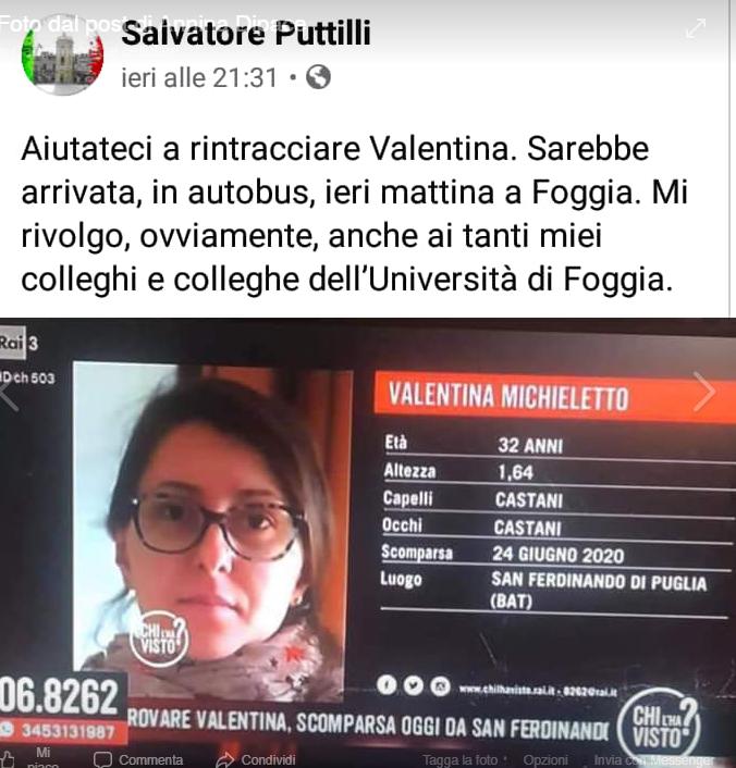 ritrovata Valentina Michielotto