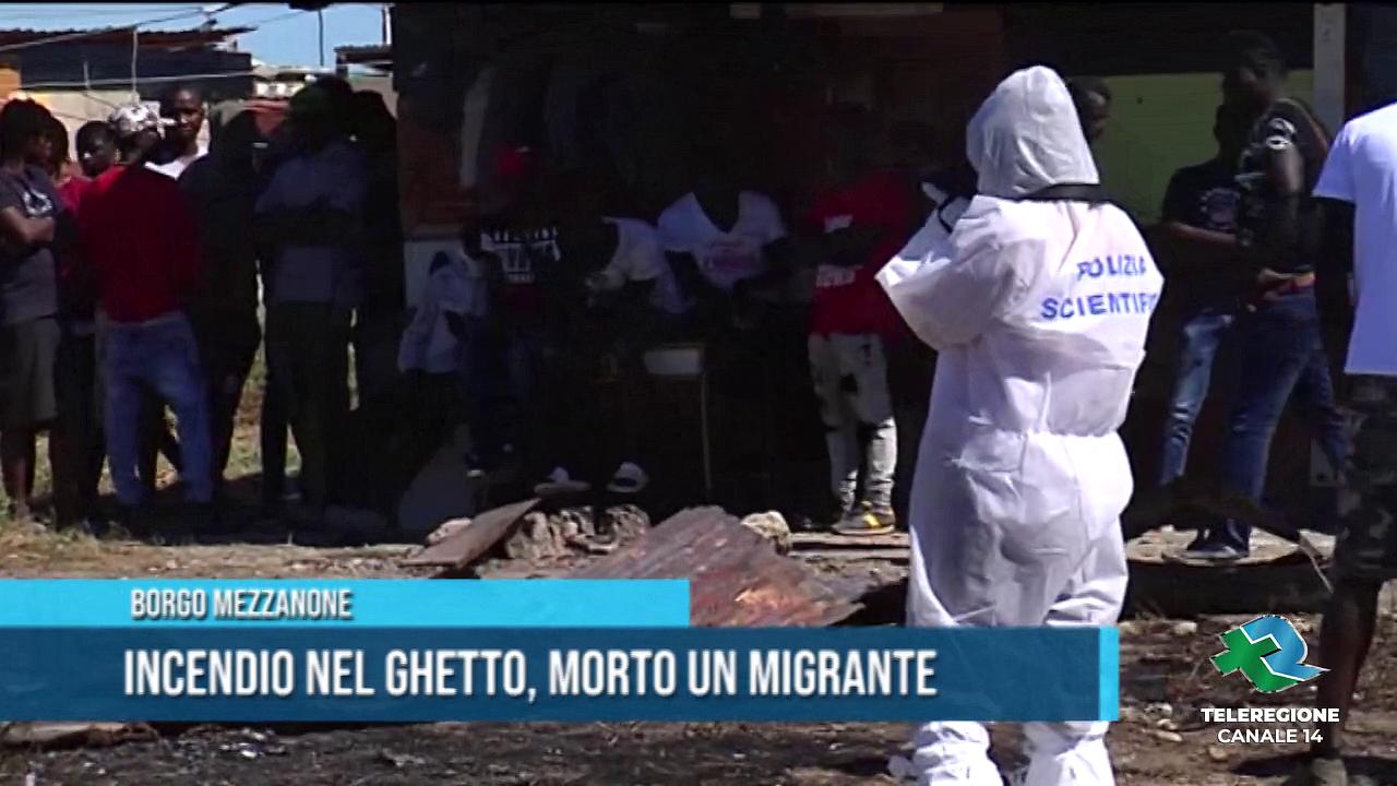 migrante morto carbonizzato borgo mezzanone